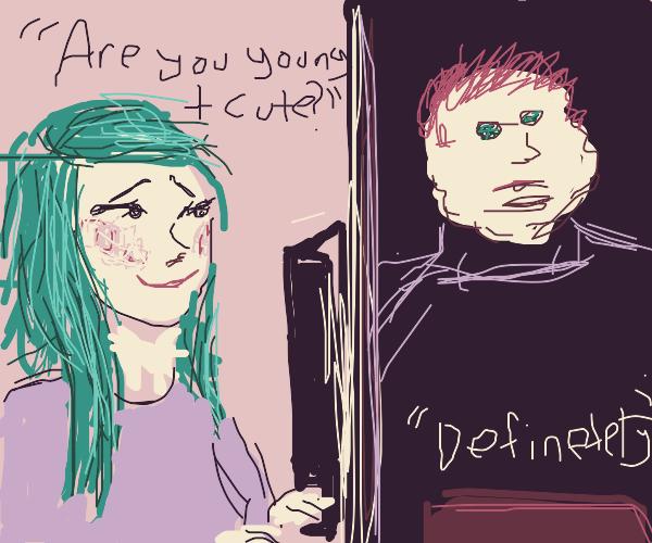 girl gets catfished online