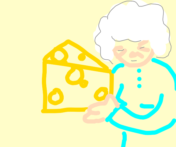old granny with cheese