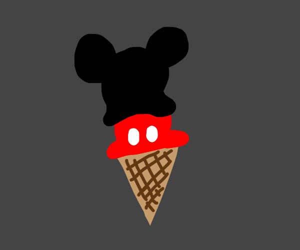 Mickey in a cone
