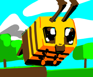 Minecraft bee with a beard