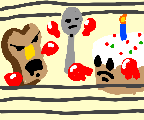 Spoon vs at autistic cake and angry toast