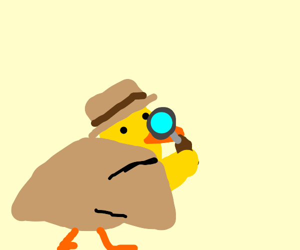 Detective Duck on a case!