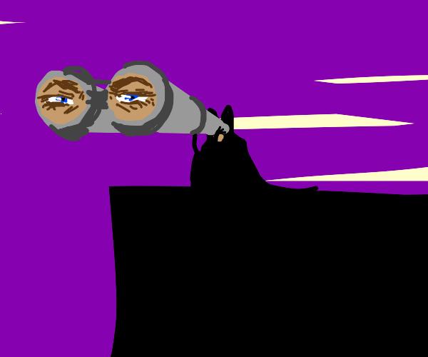 bat man is watching