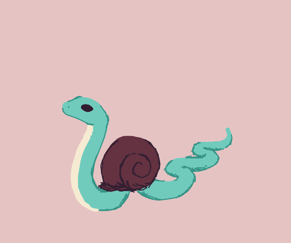Sneaky Snake Snail Disguise