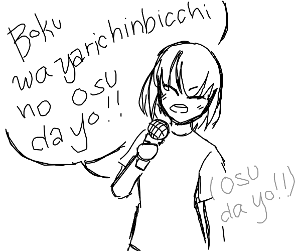 Girl singing Crappy jap song