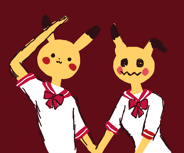 Pikachu and Mimikyu are basic normie girls