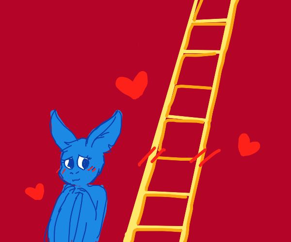 Love story about bat and ladder