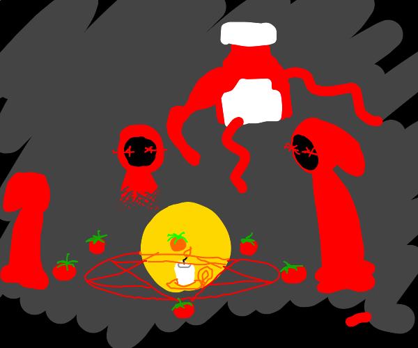 ketchup summoning ritual (gone wrong)