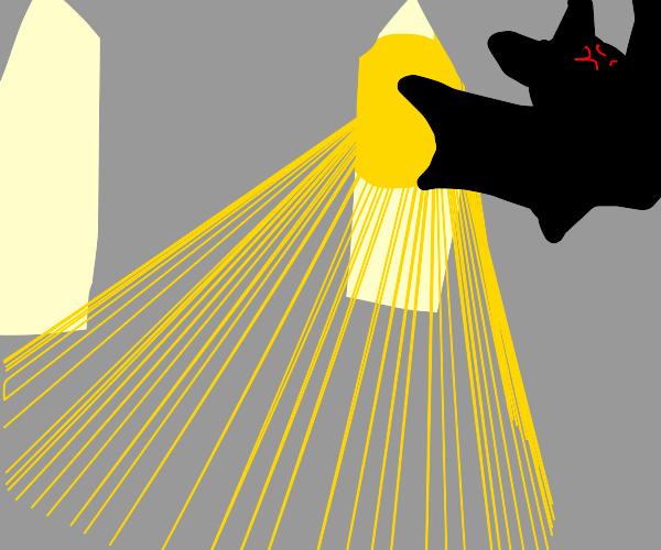 Vampire bat hates the sun