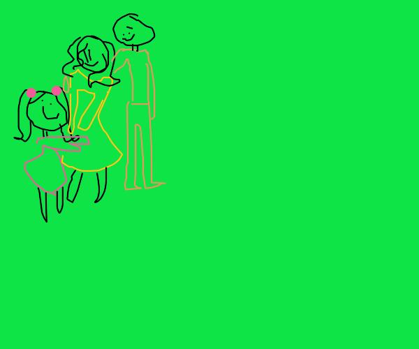 Happy family smiles