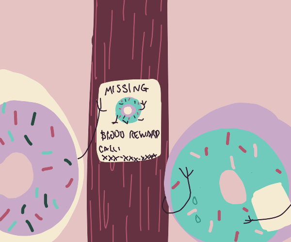 Missing doughnut poster with a reward.
