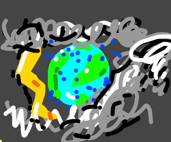 Earth in a Storm