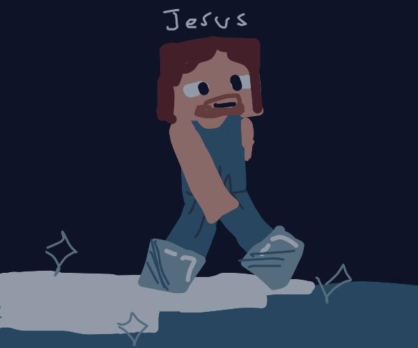 Jesus with frostwalker boots
