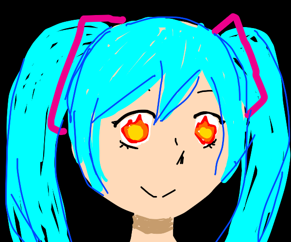 Miku Totally isnt gonna commit arson rn