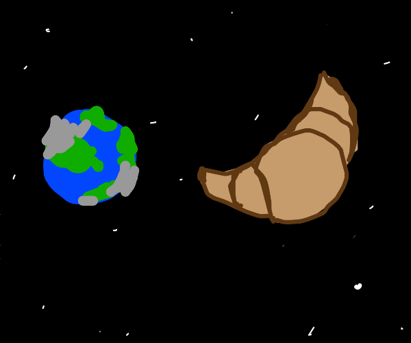 croissant gets blasted into space