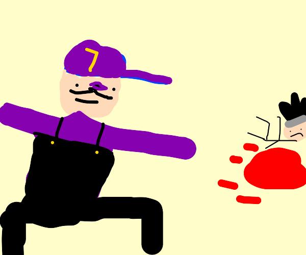 Waluigi in Street Fighter