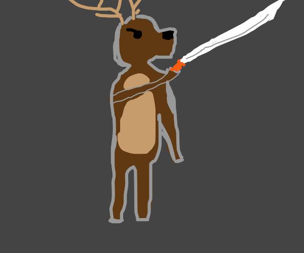 Samurai deer