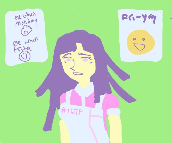 Mikan Tsumiki loves Friday