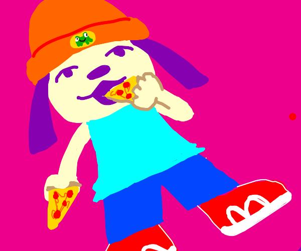 Parappa the Rapper wont stop eating pizza