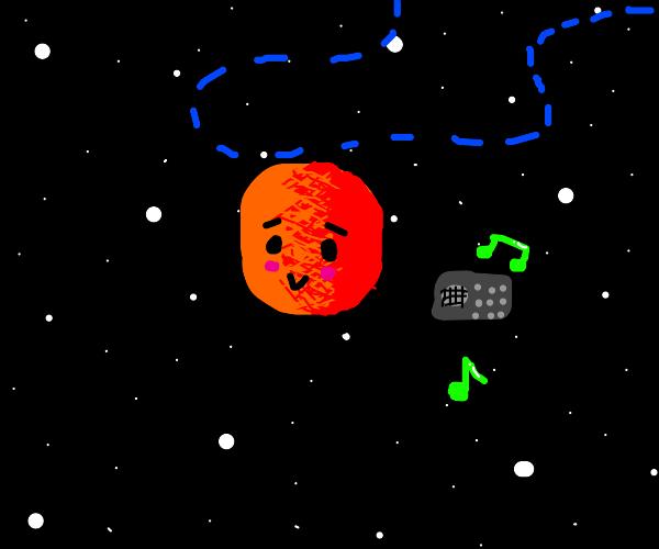 Planet dances to radio