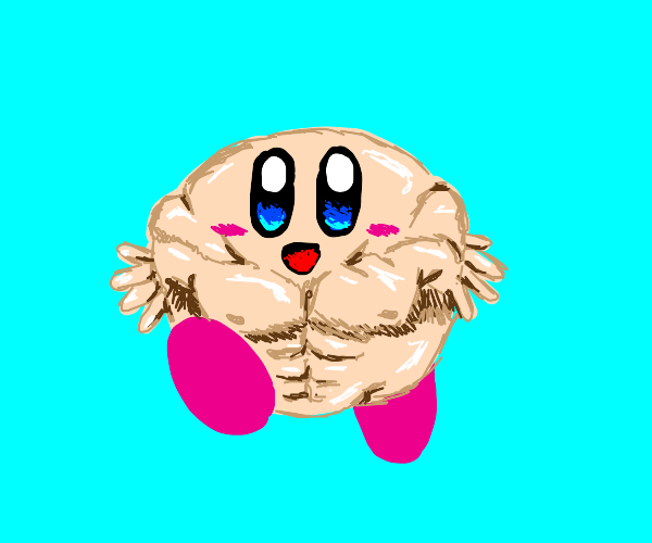 Buff kirby with fingers