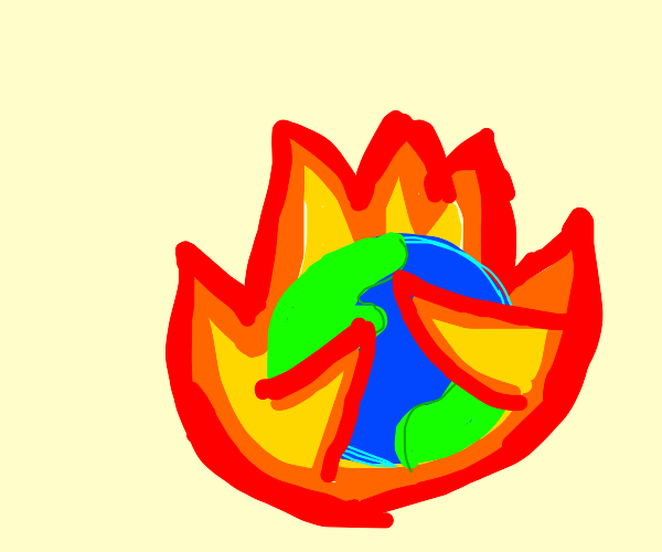effects of global warming: earth burns