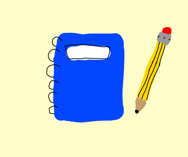 Blue Colored Notebook