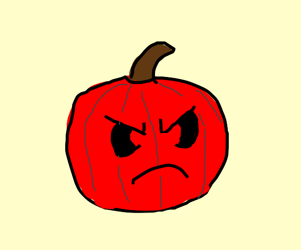 Angry red pumpkin