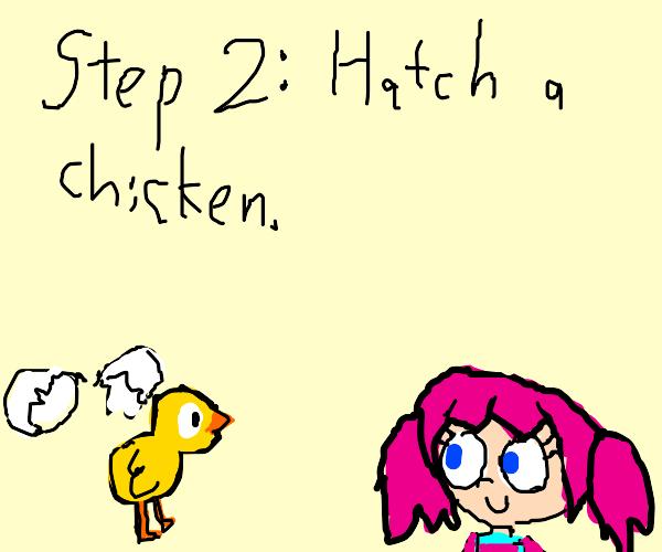 step 1: buy an egg
