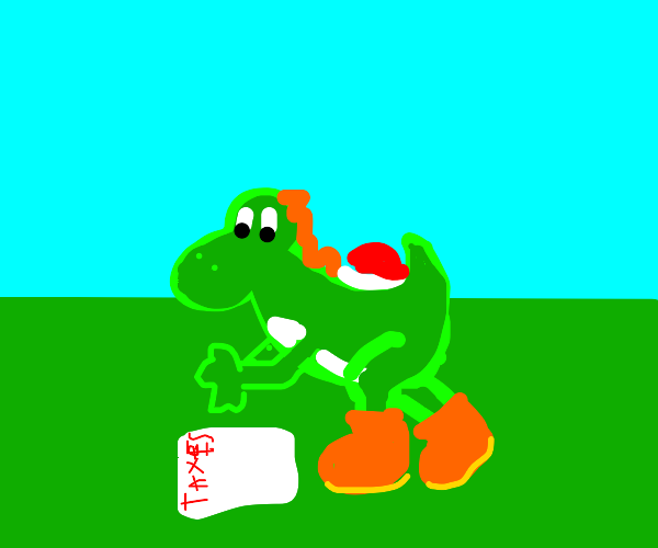 yoshi doesn't even know what taxes are