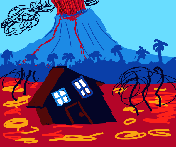 house on some lava