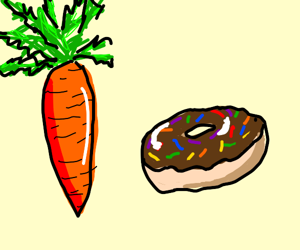 Carrot and donut