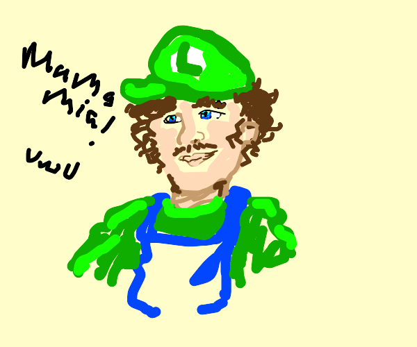 A cute Luigi