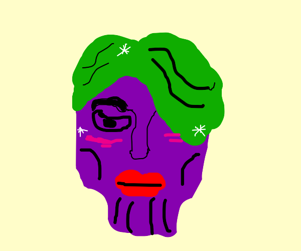 Thanos with green hair