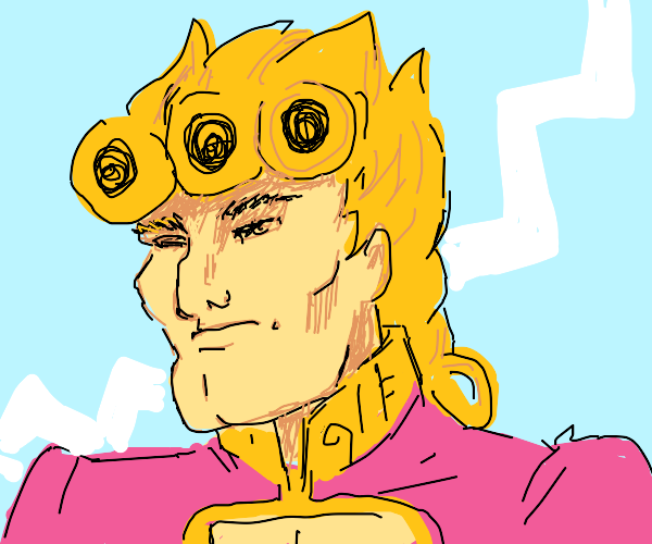 Giorno has a manly face