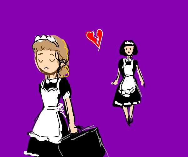 maid girl leaves her girlfriend behind