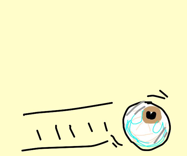 An eye rolling