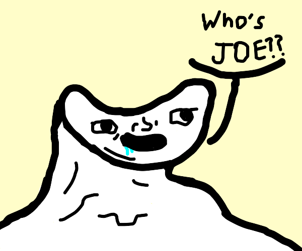 Asking who joe is