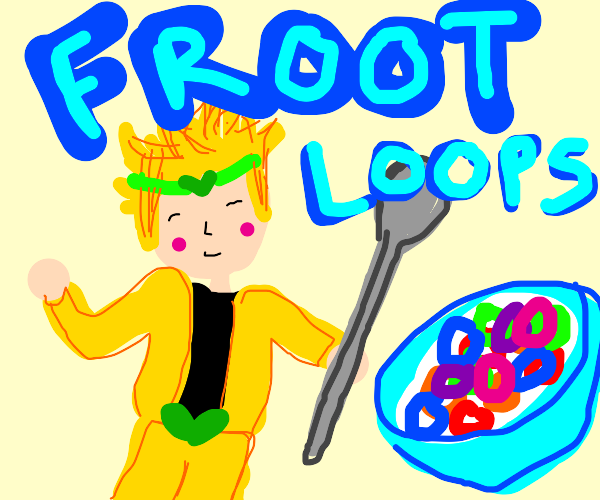 Dio Brando should be Froot Loops' new mascot