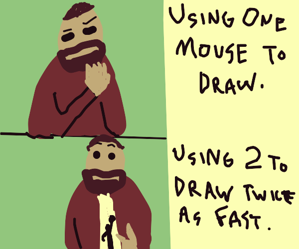 draw faster with 2 mice