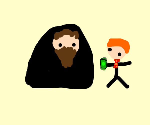 Ron Weasley buys contraband from Hagrid