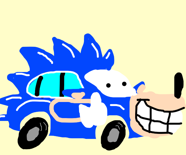 Sonic has turned into a car