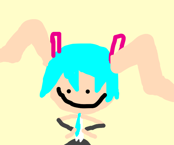 Miku but her hair is her legs