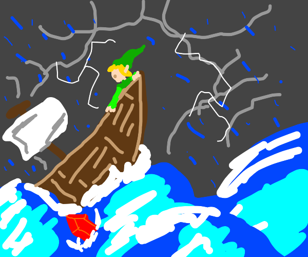 link dropped his red rupee into the sea