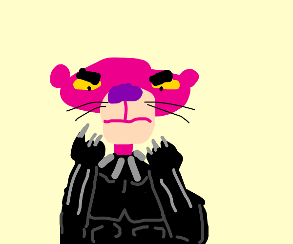The Pink Panther as the Black Panther