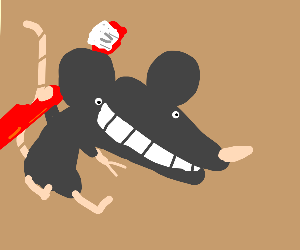 Mouse is dedicated to oral hygiene