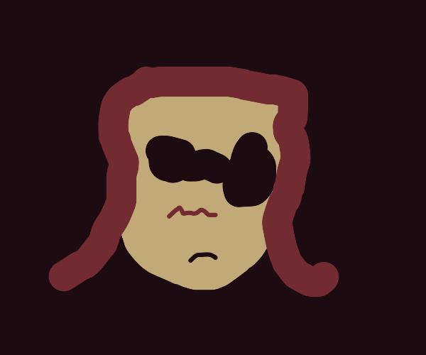 floating head wearing sunglasses