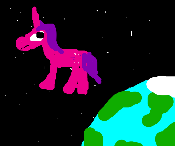 pony in space