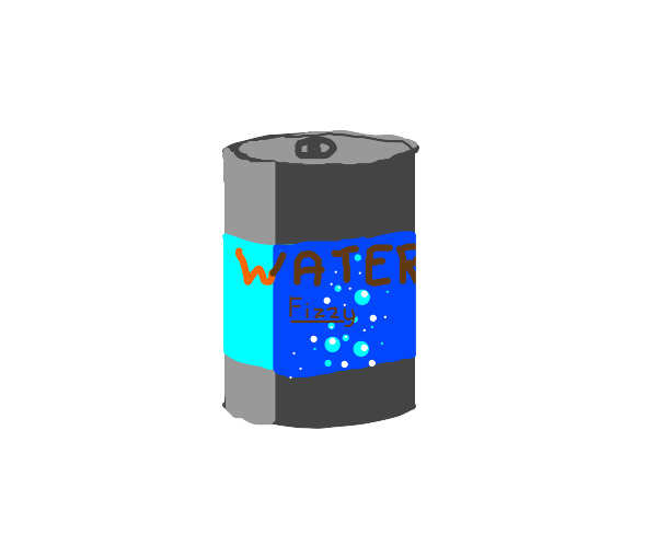 fizzy water in a can
