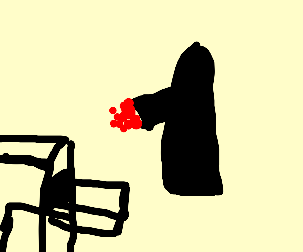 Grim Reaper baking Raspberries